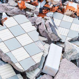 Masonry debris