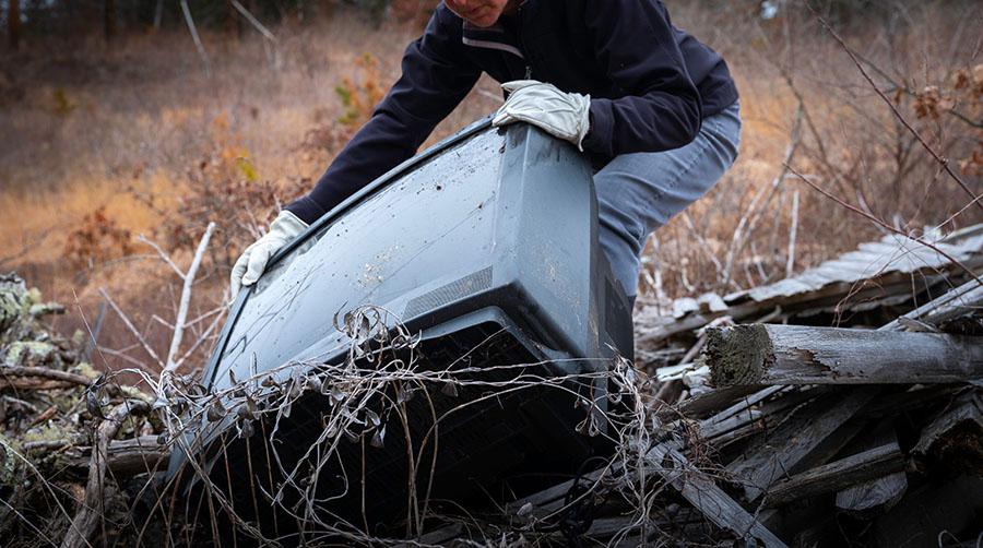 Avoid Placing Old TV in Landfill