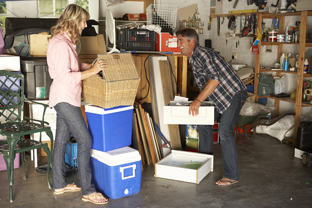 Declutter Garage by Emptying It