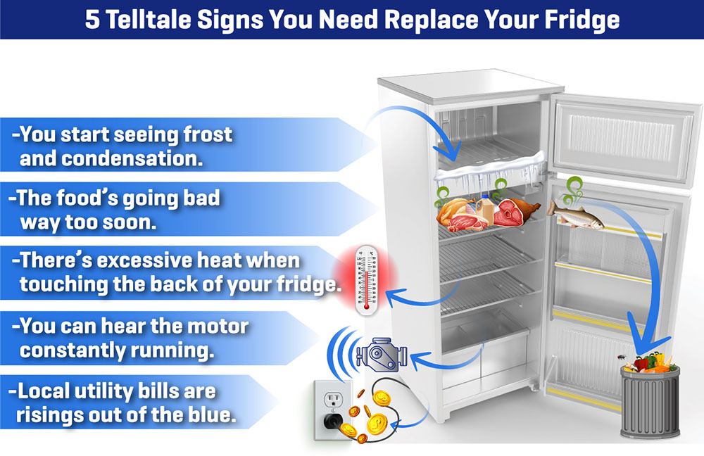 Signs to Replace Fridge Infographic